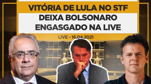 Vitória de Lula no STF deixa Bolsonaro engasgado na Live – Eduardo Moreira e Luís Nassif